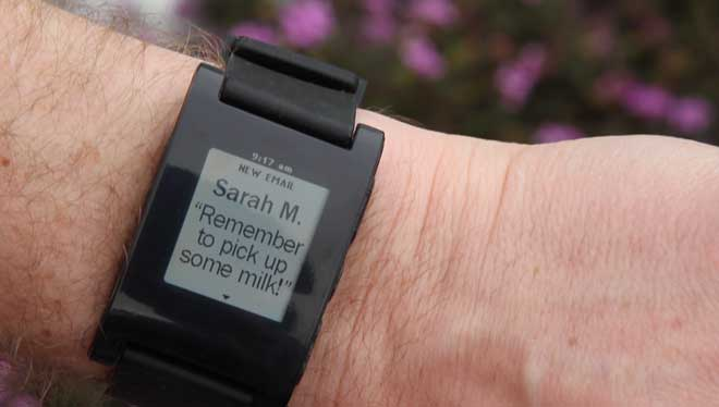 Pebble notification