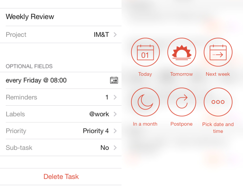 Todoist on iOS