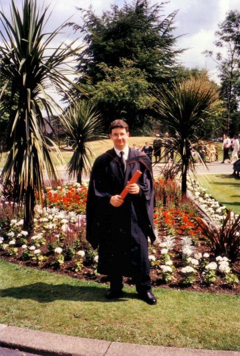 Me graduating