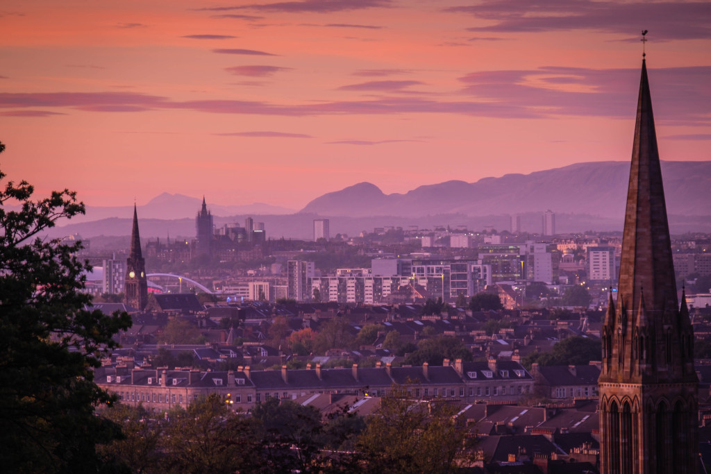 Glasgow from Queen's Park